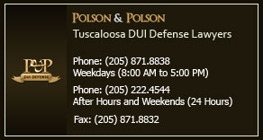 Polson and Polson Tuscaloosa DUI Defense Lawyers